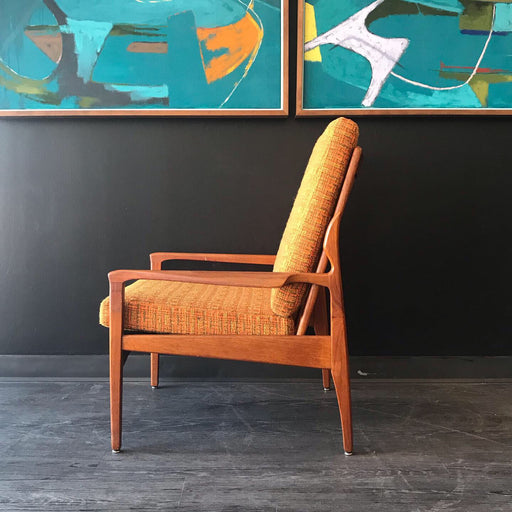 Teak Frame Lounge Chair
