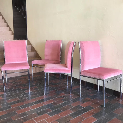 Pink + Chrome Dining Chairs