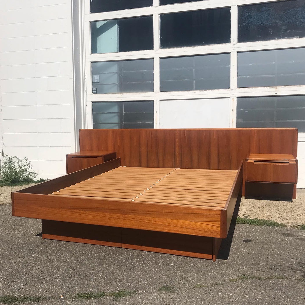 Sold • Teak Queen Size Bed