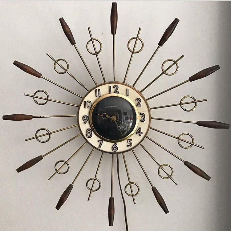 Electric Starburst Clock
