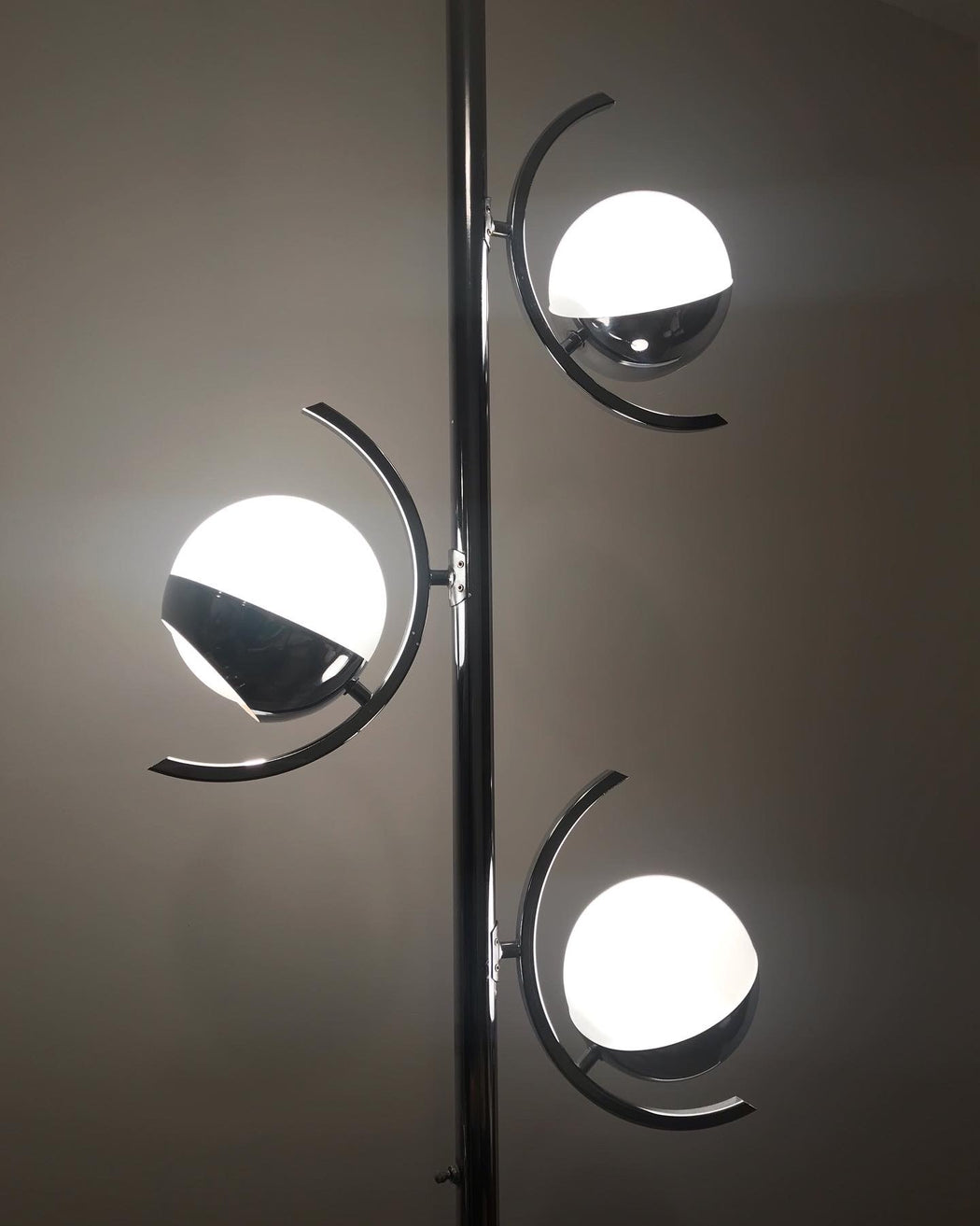 1970s Chrome + Black Pole Lamp