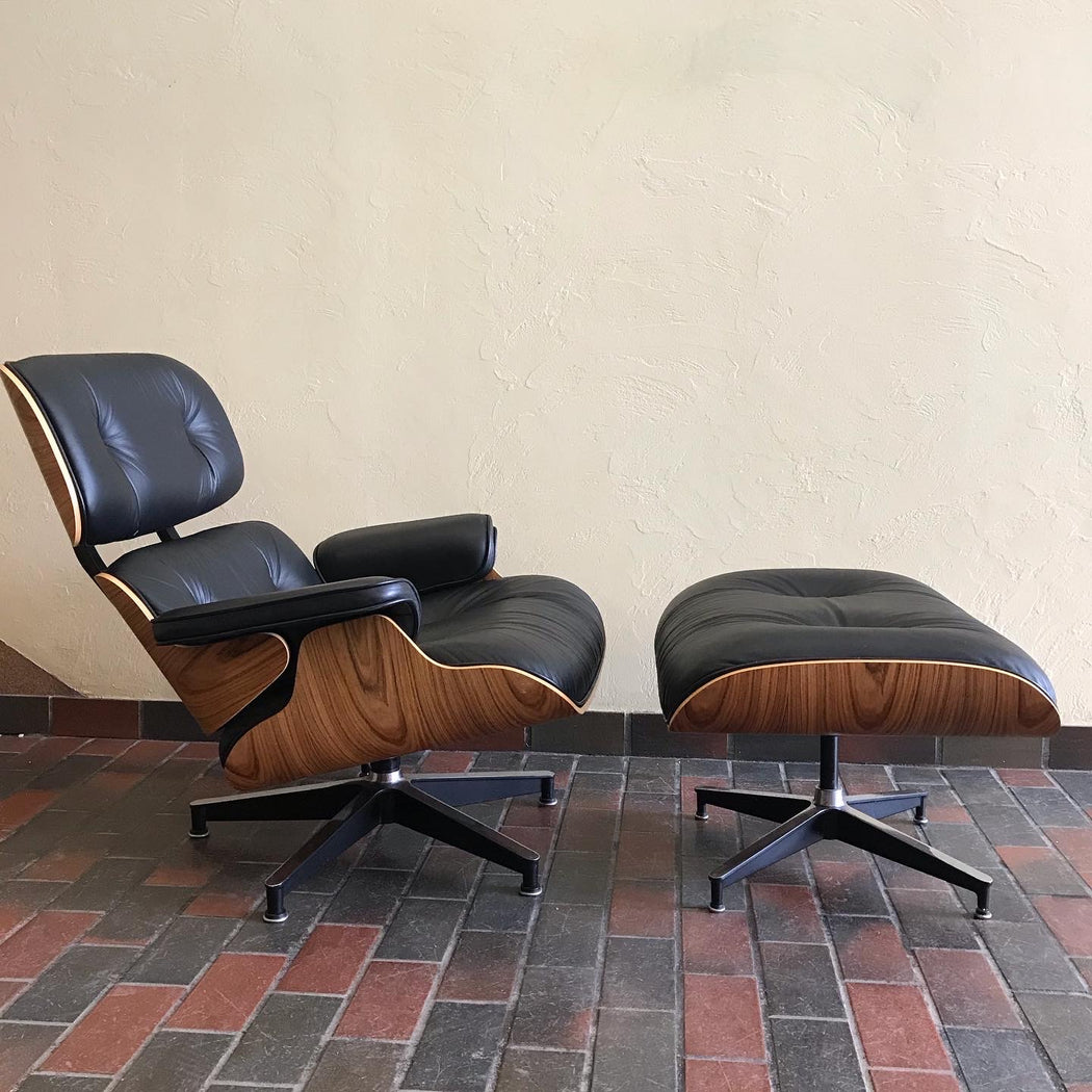 Authentic Eames Lounge Chair + Ottoman