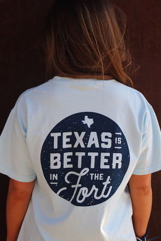 Chambray Vintage Texas is Better in The Fort