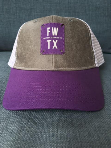 Purple Mesh Hat