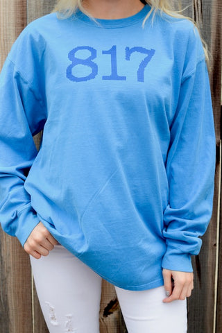They 817 Needlepoint Blue LS