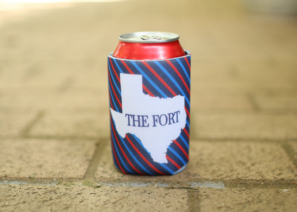 Striped The Fort Coozie