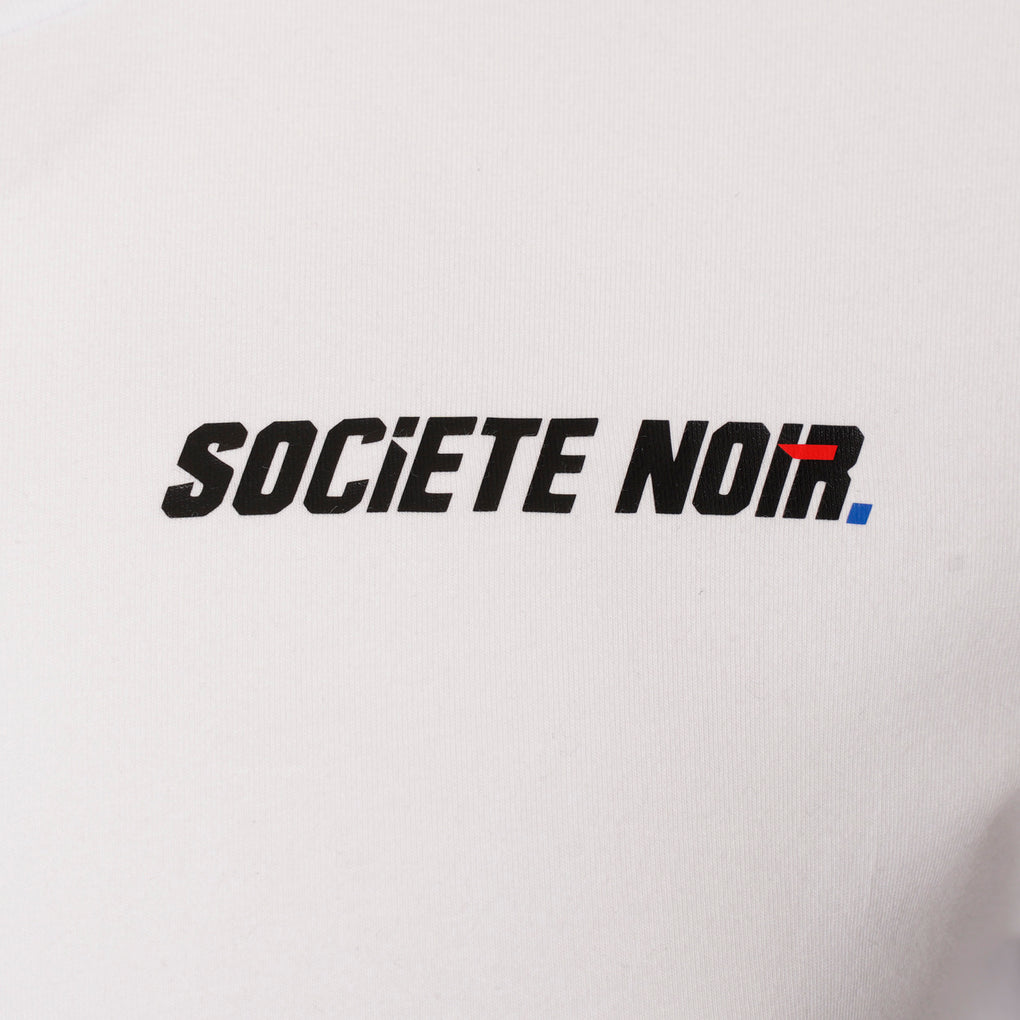 SOCIETE NOIR TEE | WHITE BLACK