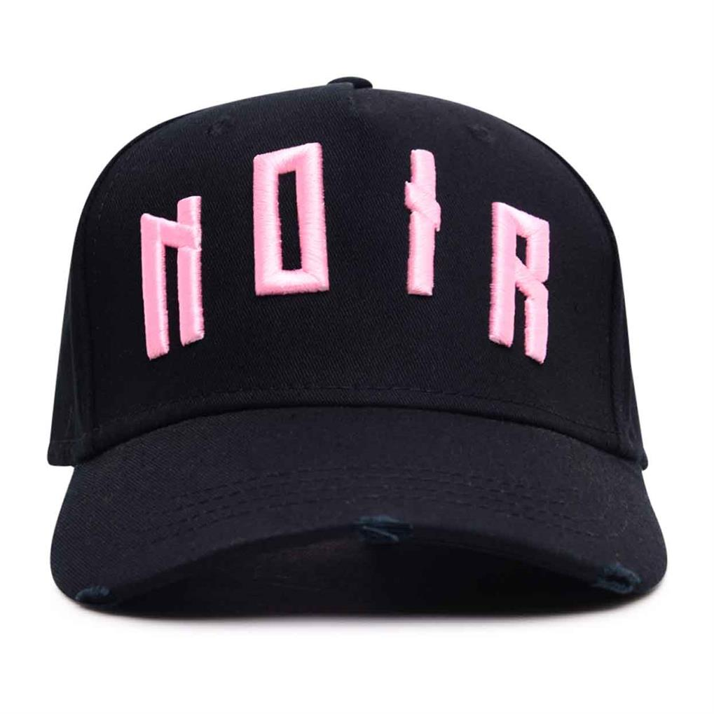 DISTRESSED TRUCKER | BLACK BABY PINK