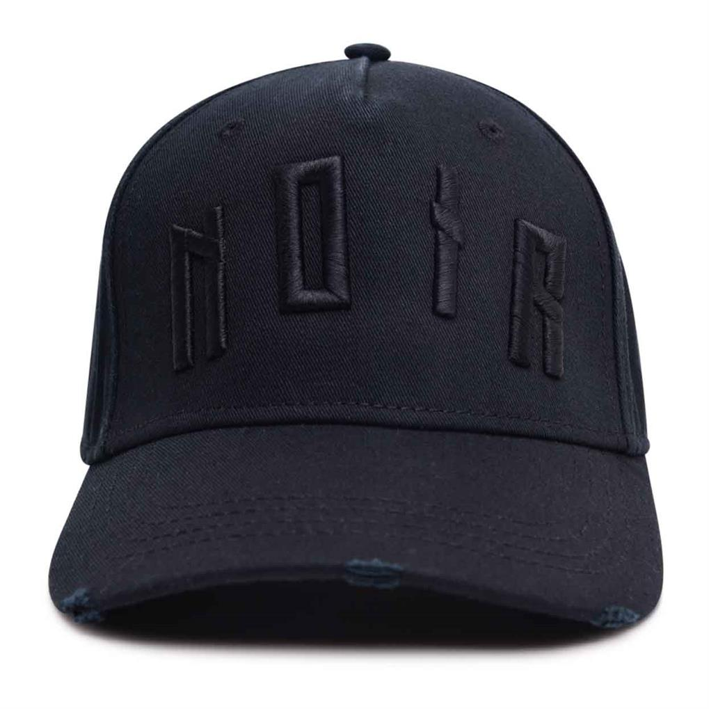 ICONIC NOIR DISTRESSED TRUCKER | BLACK BLACK