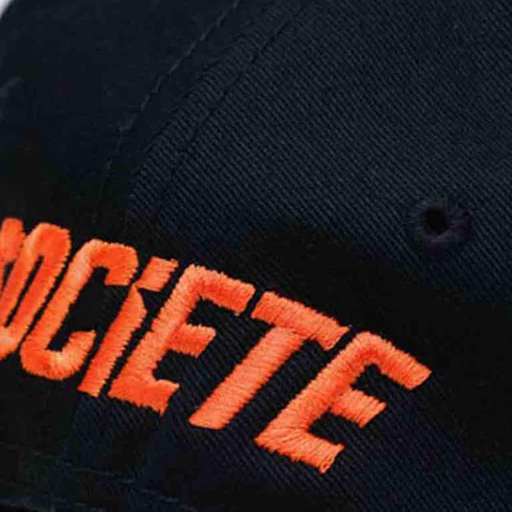 LA VITESSE DISTRESSED TRUCKER | BLACK ORANGE