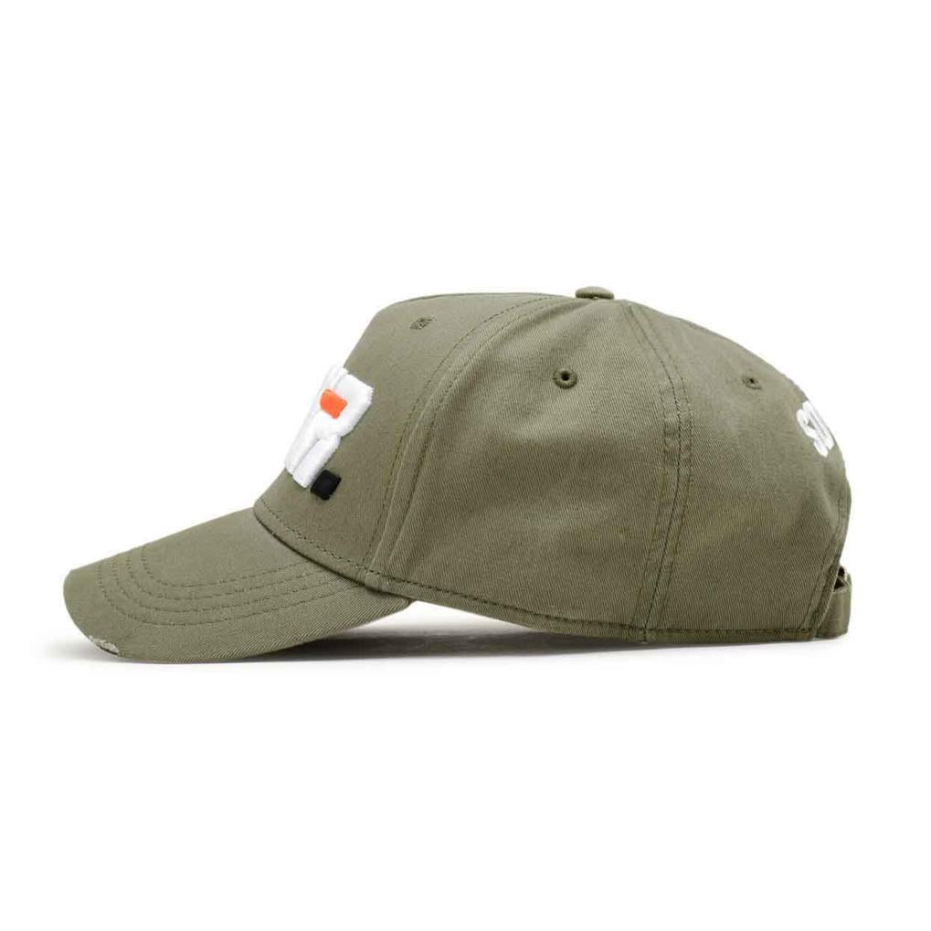 LA VITESSE DISTRESSED TRUCKER | KHAKI WHITE