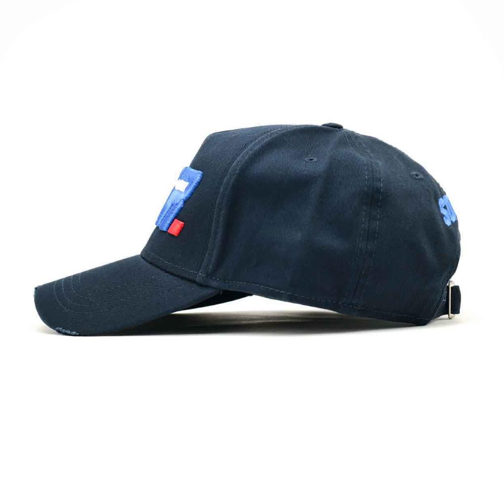 LA VITESSE DISTRESSED TRUCKER | NAVY ROYAL