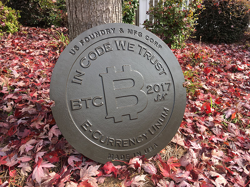 manhole cover physical bitcoin front