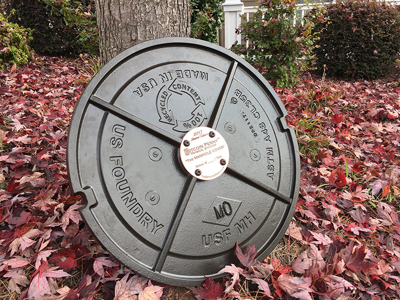 manhole cover physical bitcoin back