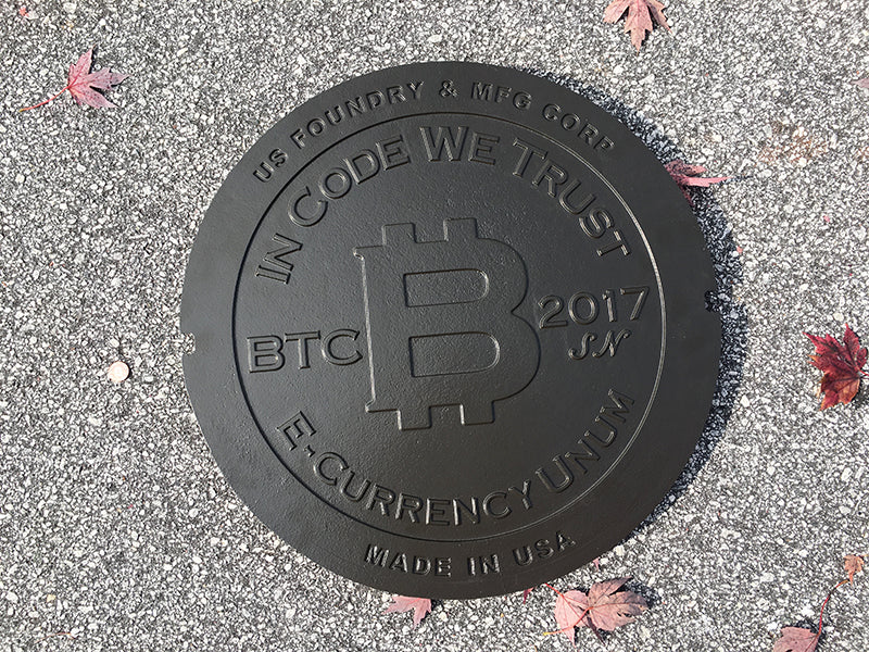 manhole cover physical bitcoin