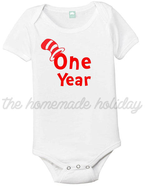 Dr. Suess inspired Baby Monthly Onesies