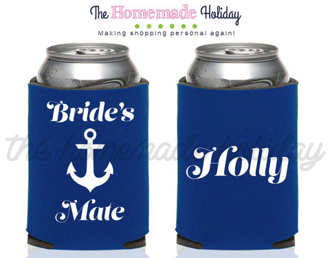 Bride and Bride's Mate Drink Cozie