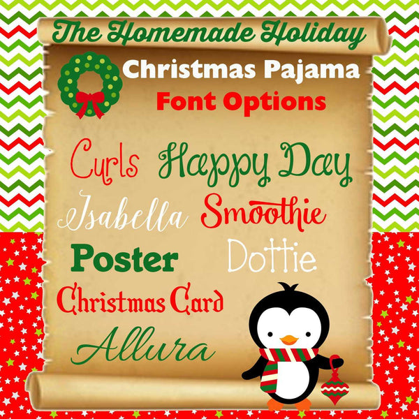 Family Striped Christmas Pajama Set