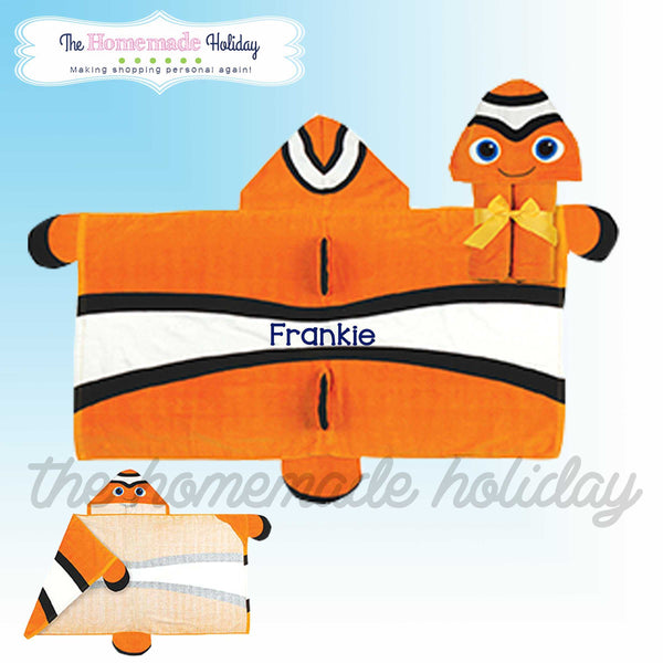 Stephen Joseph Embroidered Clown Fish Towel