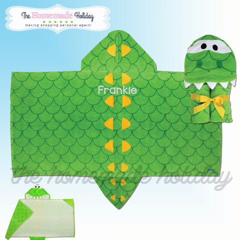 Stephen Joseph Embroidered Hooded Alligator Towel