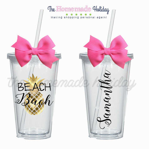 Beach Bach Pineapple Tumblers