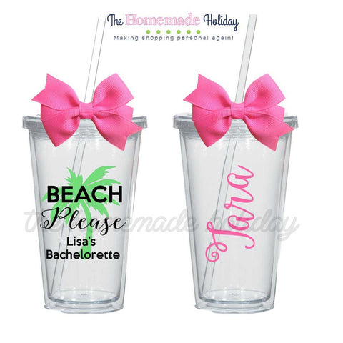 Beach Please Palm Tree Tumblers