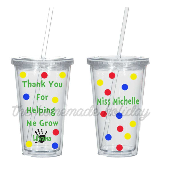 Thank you for helping me grow teacher Tumbler
