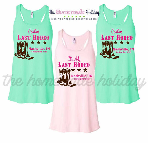 Last Rodeo Bachelorette Tank Top