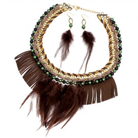 FeatherCollarNecklace