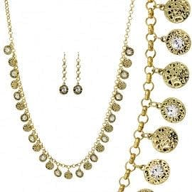 Hammered Multi Disc Necklace Set - The Best Accessory