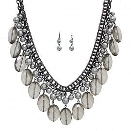 Pearl & Crystal Drop layer Necklace - The Best Accessory