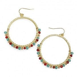 Crystal Wrapped Hoop Earring - The Best Accessory  - 2