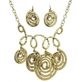 Antique Swirl Design Necklace Set - The Best Accessory