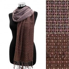 Small Square Dots Reversible Pashmina - The Best Accessory