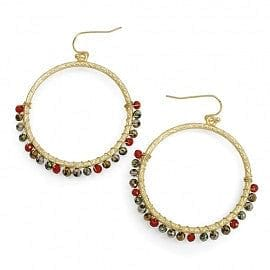 Crystal Wrapped Hoop Earring - The Best Accessory  - 1
