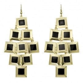Square Disk Color Drop Earring - The Best Accessory  - 2
