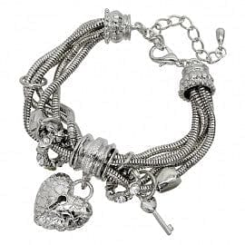 Sliding Charm Bracelet - Heart - The Best Accessory