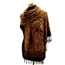 Multi Circle Pashmina - Brown - The Best Accessory