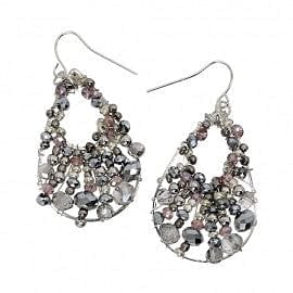 Crystal & Bead Wired teardrop Earring - The Best Accessory