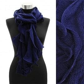 Ruffle Edged Scarf Purple - The Best Accessory  - 5