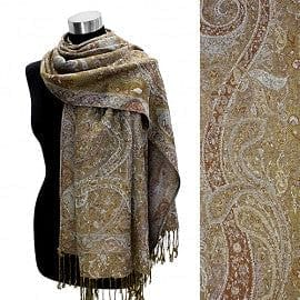 Multi Color Paisley Pashmina - The Best Accessory
