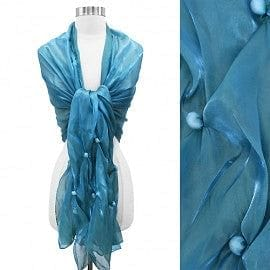 Organza Metallic Shawl - The Best Accessory