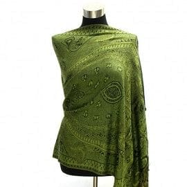 Big Paisley Pashmina - Green - The Best Accessory