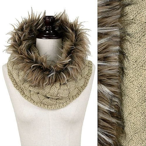 Fur Knit Tube Scarf - The Best Accessory  - 1