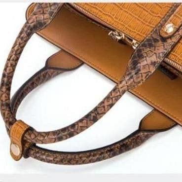 Genuine Leather   Crocodile Embossed Leather Shoulder Bags - The Best Accessory