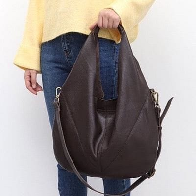 Genuine Leather Shoulder Bucket  Vintage Hobo Handbag - The Best Accessory