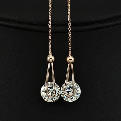 2 Carat CZ Line Earrings - The Best Accessory