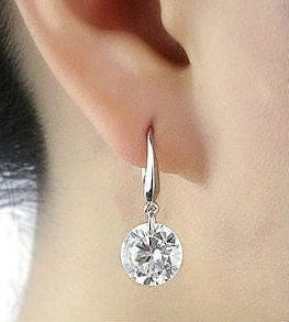 925 Silver and Crystal Drop Earrings - The Best Accessory  - 1