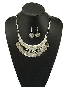 Gypsy Bohemian Crescent Bib Statement Necklace set - The Best Accessory