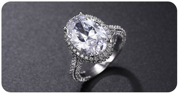 Luxury Crystal Oval Zircon Stone Ring - The Best Accessory